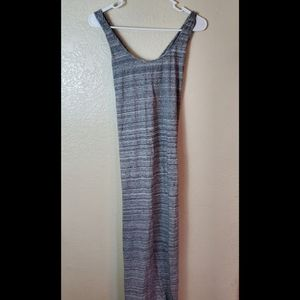 LOFT sleeveless gray jersey knit casual maxi dress